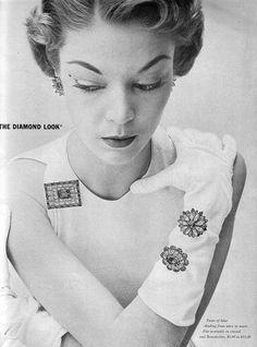 Jean Patchett in Kramer Jewelry ad, 1952