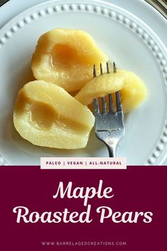 Basted with spiced apple cider and finished with a bit of bourbon maple, these maple roasted pears pair great with a scoop of vanilla bean ice cream! Dessert Simple, Pear Recipes Breakfast, Recipes Using Fruit, Maple Syrup Recipes, Twice Baked Sweet Potatoes, Roasted Pear, Spiced Apple Cider, Quick Easy Desserts, Healthy Fruits