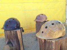 wood bikes, wood bars and now wood helmets!!