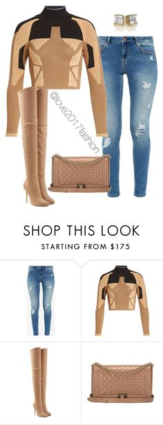 """""""Untitled #279"""" by love2014fashion ❤ liked on Polyvore featuring Ted Baker, adidas Originals, Balmain and Chanel"""