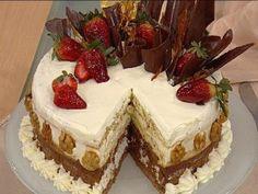 Recetas | Torta de chocolate, nuez, crema y merengue | Utilisima.com