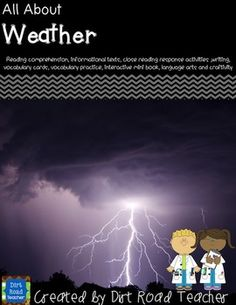 A complete unit on weather, the meteorologists job, and weather predicting tools. Students will enjoy the engaging activities, close reading activities, making actual weather predictions and learning about the tools of the trade. An E-Book is included for shared reading, as an introduction to the topic and to help students understand the job and the tools of a meteorologist.