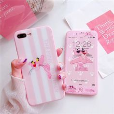 Trong hình ảnh có thể có: điện thoại Pink Panthers, Mobile Covers, Cute Cases, Iphone 7 Plus Cases, Pink Aesthetic, All Pictures, Phone Accessories, Ipad, Samsung