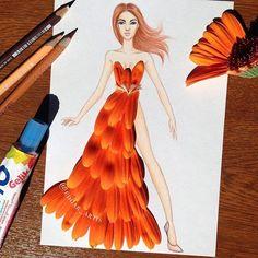 Edgar Artis.  Orange flower petals