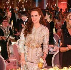 Lalla Salma of Morocco Morrocan Dress, Moroccan Caftan, Lalla Salma, Leila, Costume, Traditional Dresses, Hijab Fashion, Wedding Bride, Gowns