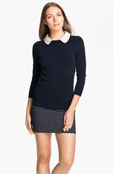 Preppy - Milly Leather Collar Sweater