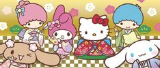 Sanrio Characters Hello Kitty My Melody, Sanrio Hello Kitty, Sanrio Characters, Fictional Characters, Friend Crafts, Sanrio Wallpaper, Little Twin Stars, Christmas Photos, Baby Things