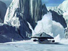 Voyager crash landing from Star Trek Voyager - Episode 100: Timeless