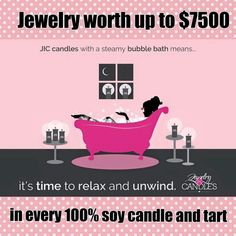 100% Soy Wax Candles and Tarts-Breathe Easy! Bonus Jewelry Inside Every Candle or Tart! Environment Friendly! https://www.jewelryincandles.com/store/love-me-books-and-stuff