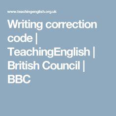 Writing correction code   TeachingEnglish   British Council   BBC