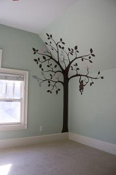 Use vinyl decor that extends up onto the ceiling (not necessarily this design...)