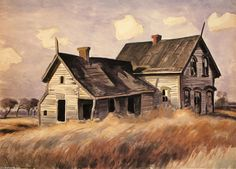 Charles Burchfield  This caught my eye.  It's one of those pics that I could just sit and look and daydream.