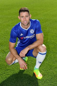 Gary Cahill of Chelsea during the Chelsea Official Team Group at the Cobham Training Ground on September 13 2016 in Cobham England Chelsea Fc, Chelsea Soccer, Soccer Guys, Football Players, Gary Cahill, Sexy Military Men, Football Mexicano, Famous Sports, Sports Stars
