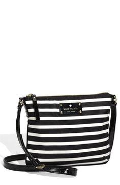 love the stripes, black and white crossbody
