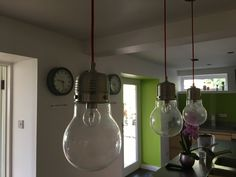 Quirky kitchen lights from John Lewis.