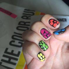 Blobbicure for the Color run! My Design, Nail Polish, Nails, Color, Finger Nails, Ongles, Nail Polishes, Colour, Polish