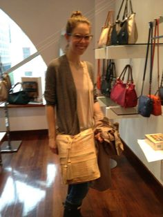Elliott Lucca Bali '89 Original Bucket spotted on Family Circle Fashion Assistant Alli, at the Elliott Lucca NYC Showroom