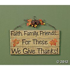 """We Give Thanks!"" Sign, Wall Art and Decorations, Home Decor - Terry's Village Holiday Decor"