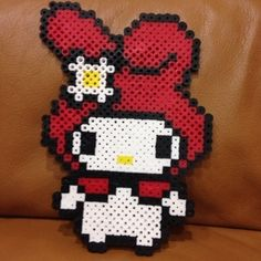 My Melody perler beads
