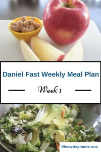 Daniel Fast Week 1 Meal Plan and Shopping List