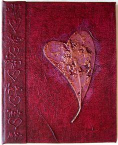 Heart Journal Handmade Refillable Red Copper Textured