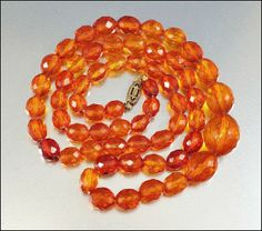 Amber faceted-bead necklace... reminds me of my great-aunt