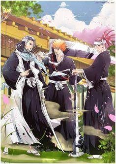 Byakuya, Ichigo and Renji
