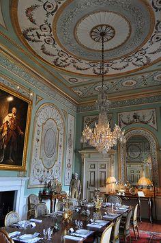 Salle à manger, Inveraray Castle, (1746-1758), Inveraray, Argyll and Bute, Ecosse, Grande-Bretagne, Royaume-Uni.