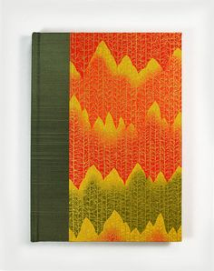 """Chart your fall garden in this beautiful Gardener's Journal Notebook """"AUTUMN TREE LINE"""" by #WolfiesBindery $25.00 - the PERFECT gift for those who love to garden"""