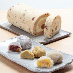 栗きんとんロールと和菓子3種の詰め合わせ。【栗きんとんロール&栗づくし】