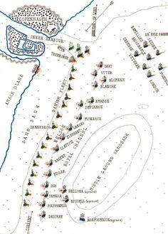 map of battle of copenhagen battle lines