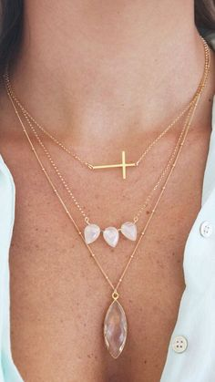cross necklace, great layering