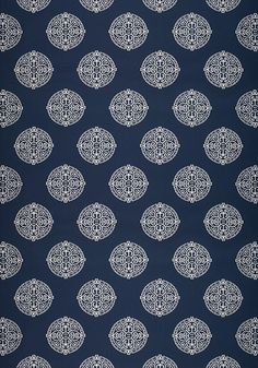 HALIE EMBROIDERY, Navy, W736103, Collection Enchantment from Thibaut