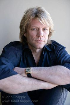 """Jon Bon Jovi - I like this pic because he looks more like a """"real person"""" and less like a perfect rock god :)"""