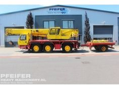 Used crane available at Pfeifer Heavy Machinery. Item Number PHM-Id 07022, Manufacturer GROVE, Model GMK3050 Year of construction 2006, Kilometers 113915, Hours 12112, Loading (lifting) capacity (kg) 50000, Fuel Diesel.
