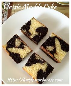 Classic marble butter cake (古早味牛油蛋糕)#guaishushu #kenneth_goh  #marble_cake  #云石蛋糕