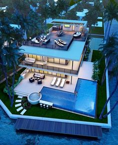 Best Ideas For Modern House Design & Architecture : – Picture : – Description Pompano Beach new construction Luxury Homes Dream Houses, Modern Mansion, Dream House Exterior, House Goals, Pool Designs, Modern House Design, Exterior Design, Future House, Beautiful Homes