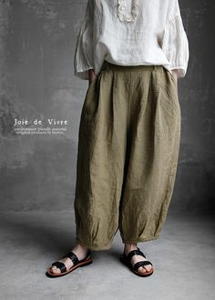 Cozy Fashion, Fashion Pants, Girl Fashion, Fashion Outfits, Womens Fashion, Baggy Clothes, Pantalon Large, Natural Clothing, Mode Boho