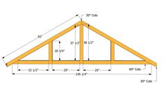 Grab inspiring Marvelous Roof Truss Design Roof Trusses Design ideas from Marie Cook to renovate your space. The Plan, How To Plan, Diy Shed Kits, Diy Storage Shed Plans, Roof Storage, Storage Units, Storage Sheds, Building A Shed Roof, Building Plans