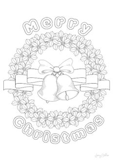 Displaying Merry Christmas Colouring Page Pictures To ColourColorful