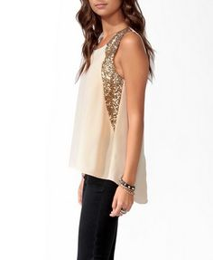 Sequined High-Low Top | FOREVER21 - 2025100606  Love