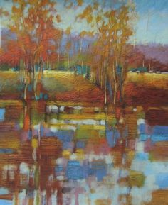 """What a wonderful way to bring the OUTSIDE, in with artist Robert Chapman's """"Blue Morning!""""  @ the MALTON GALLERY Brenda's Blog"""