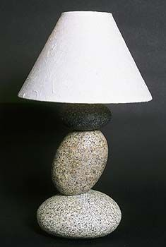 Sculpture Lamp Made Of Natural Stone Products To Reflect The Natural Beauty.
