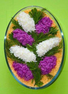 Pretty Persian food, salad design ♦๏~✿✿✿~☼๏♥๏花✨✿写☆☀🌸🌿🎄🎄🎄❁~⊱✿ღ~❥༺♡༻🌺<MO Feb ♥⛩⚘☮️ ❋ Food Design, Salad Design, Design Design, Cute Food, Good Food, Salad Decoration Ideas, Salad Ideas, Creative Food Art, Food Carving