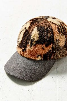 795658da6b12b Patterned Sherpa Baseball Hat - Urban Outfitters Cute Hats