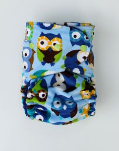 Nocturn-Owl Minky One-Size Fitted Diaper | Flickr - Photo Sharing!