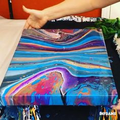 In this video, I demonstrate a fluid acrylic painting on a canvas using the flip and drag technique. Products used: Flood floetrol Artist Loft Flow a. Acrylic Pouring Techniques, Acrylic Pouring Art, Acrylic Art, Painting Techniques, Acrylic Paintings, Flow Painting, Pour Painting, Painting Videos, Diy Canvas Art
