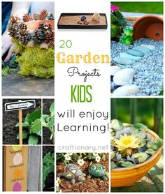Gardening with kids (activities, projects and ideas)...there are some great ideas here, I can't imagine any kid not liking the sponge grass house. I might even make a few of these projects ;)