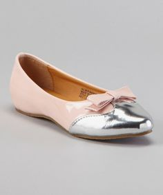 Take a look at this Pink Patent Metallic Flat on zulily today!