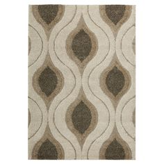 Jonah Cream/Smoke Shag Area Rug